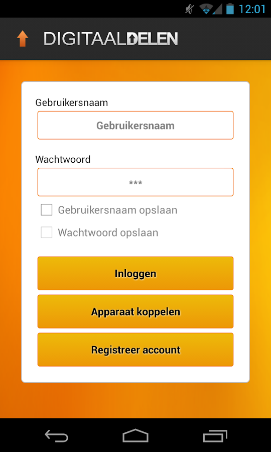 Digitaal Delen - screenshot