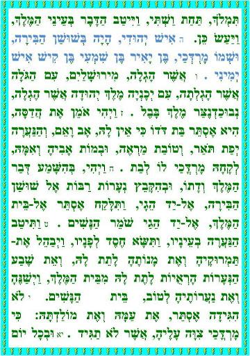 מגילת אסתר כללי כתב קטן ורעשן