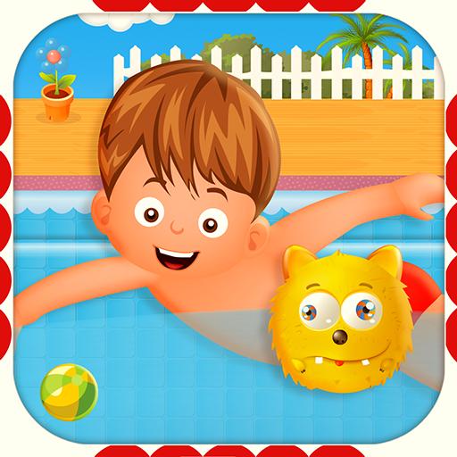 男の子のためのスイミングプールキッズ 休閒 App LOGO-APP開箱王
