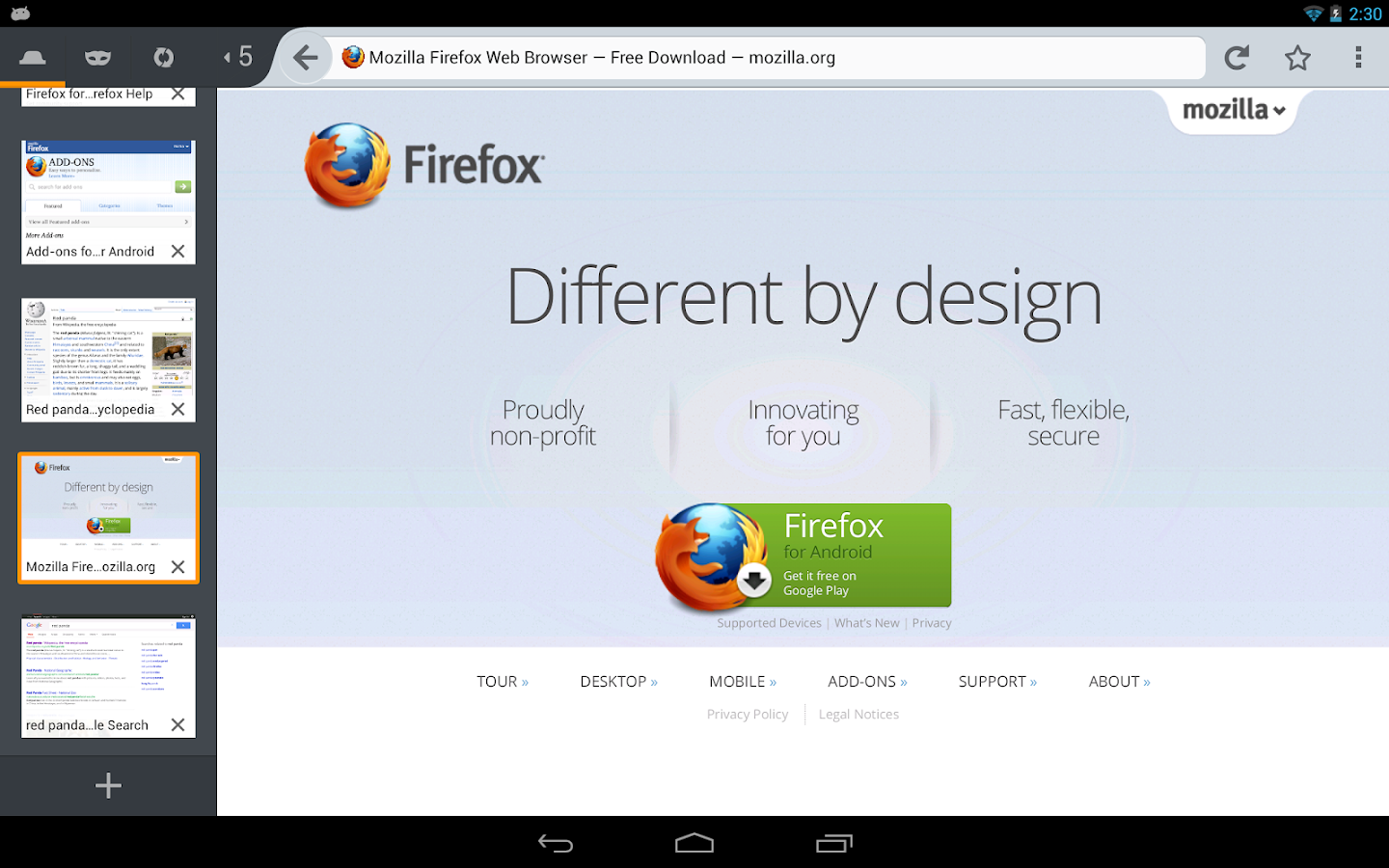 Firefox - screenshot