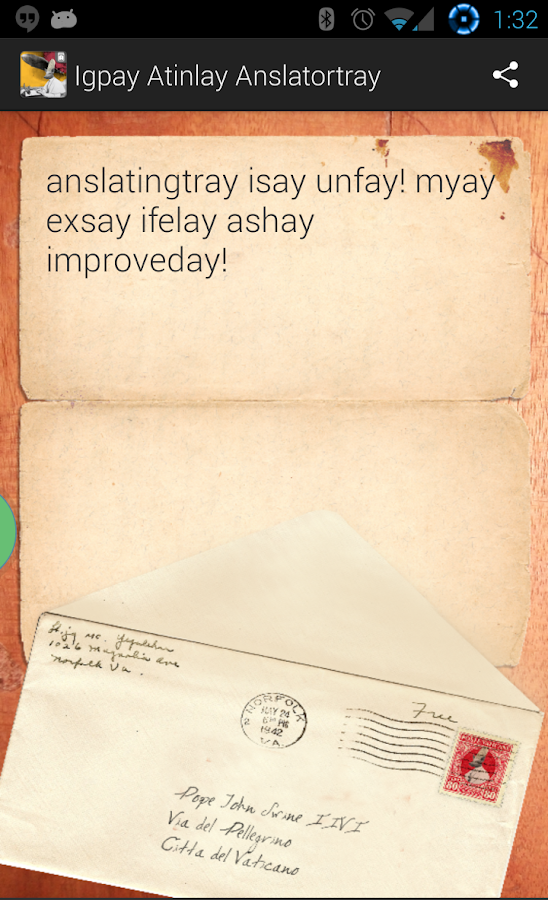 Pig Latin Translator - screenshot
