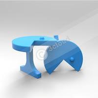 Cufflink with Pacman Logo