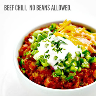 Thick and Beefy Beanless Chili