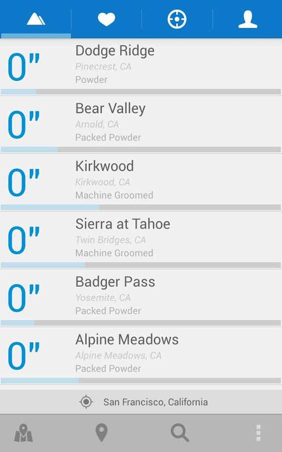 AllSnow Ski Reports & Tracker- screenshot