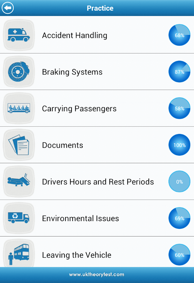 UK PCV Theory Test- screenshot