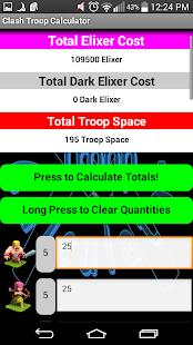 Clash Troop Calculator