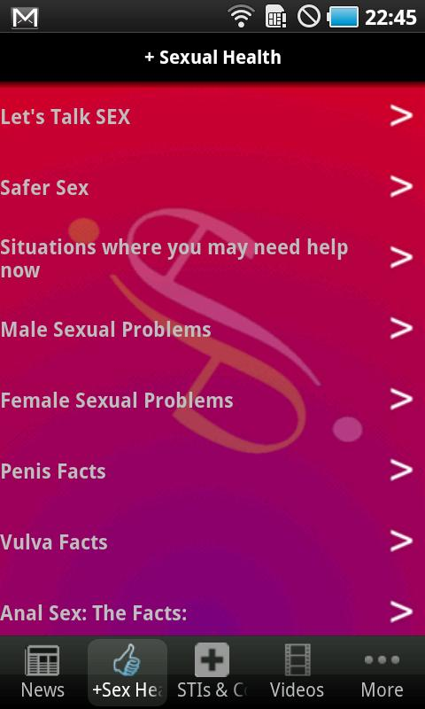 Sexual Health Guide - screenshot