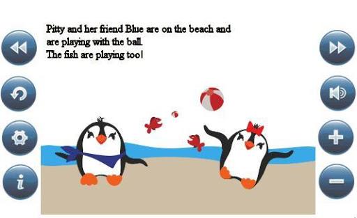 Reading app for kids Penguins