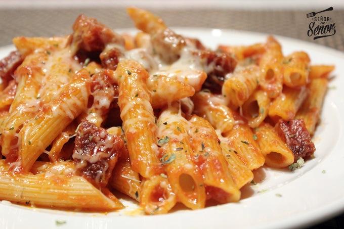 Pasta and Chorizo Au Gratin Recipe