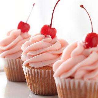 Cherry-Almond Vanilla Cupcakes