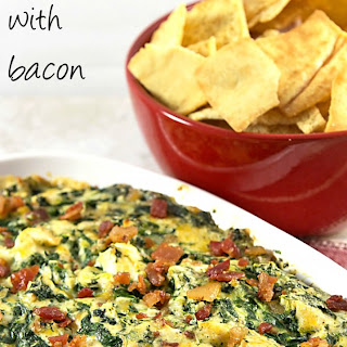 Hot 'n Cheesy Spinach Dip with Bacon
