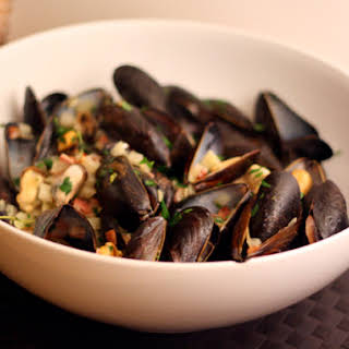 Mussels with Fennel and Bacon.