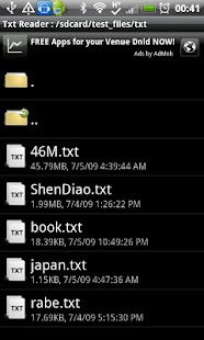 Android Txt EBook Reader - screenshot thumbnail