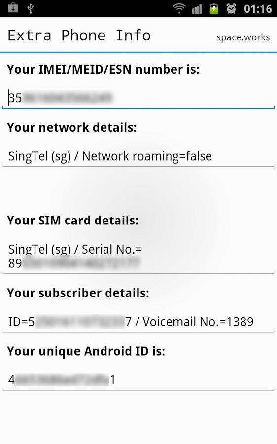 Extra Phone Info (IMEI & more)- screenshot