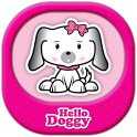 Hello Doggy Full Pink GO Theme icon