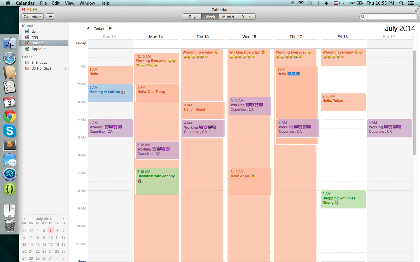 Weekly Calendar App Mac : Icalendar and reminders sync android apps on google play