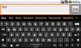 Screenshot of German dictionary (Deutsch)