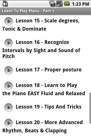 Learn To Play Piano - Part 1 - screenshot