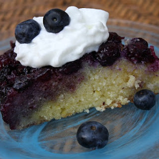 Lemon & Blueberry Upside Down Cake