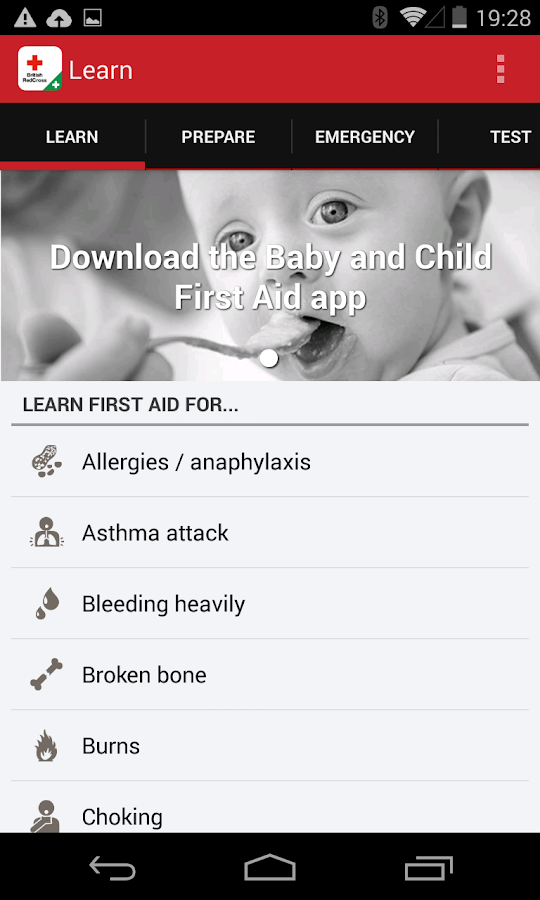 First aid by British Red Cross - screenshot