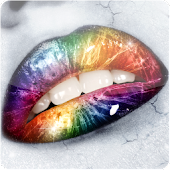 Rainbow Lips Live Wallpaper