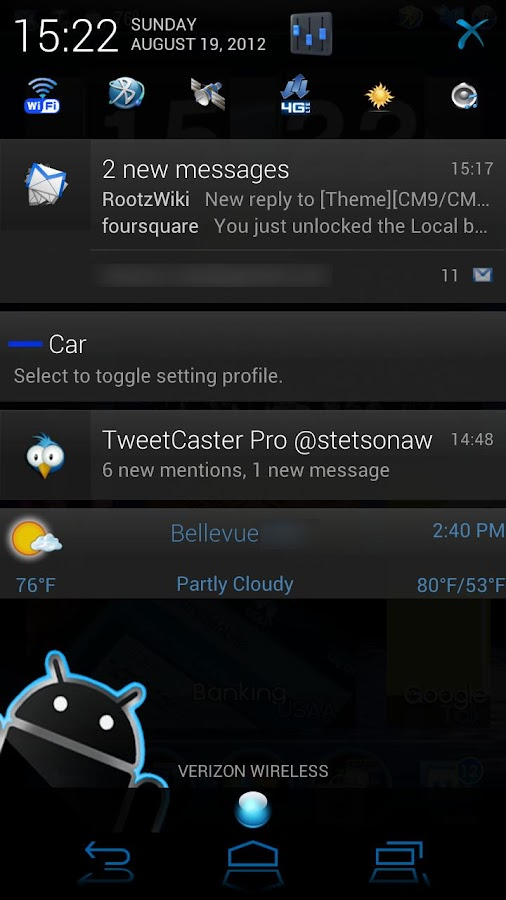 EpicBlue CM9/10 Theme DONATE- screenshot
