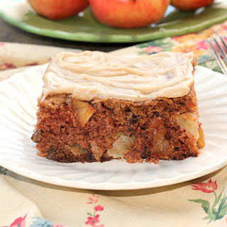 Chunky Apple Cake with Browned Butter Frosting.