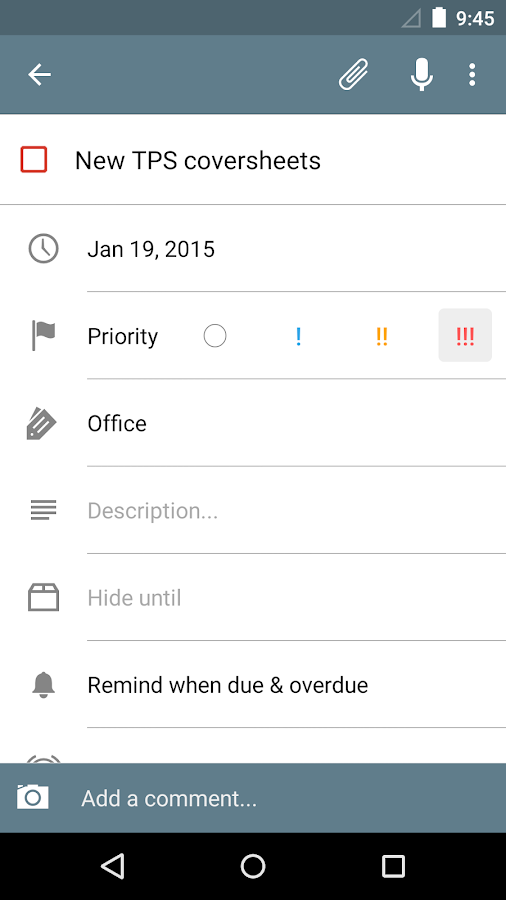 Tasks: Astrid To-Do List Clone - screenshot
