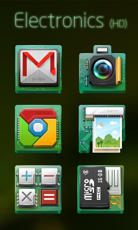 Electronics GO Launcher Theme - screenshot