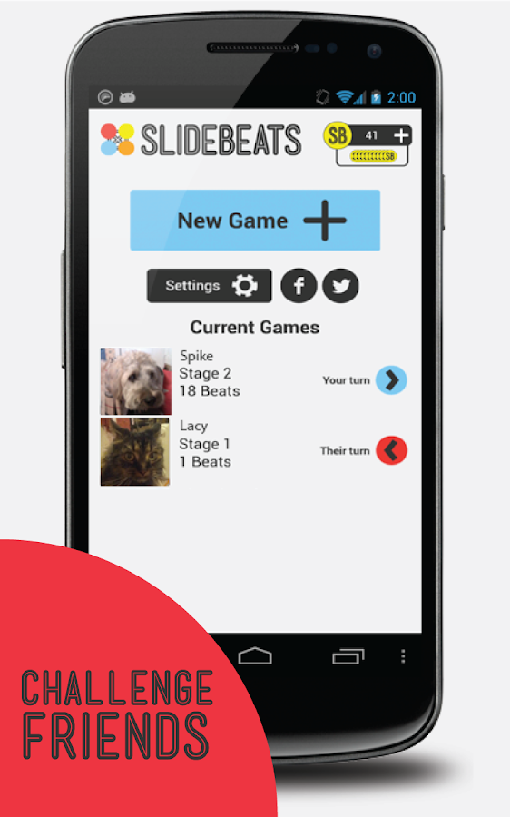 SlideBeats - music memory game - screenshot