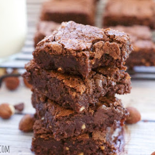 Delicious And Decadent Nutella Brownies.