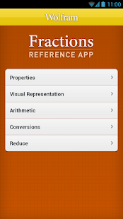 Fractions Reference App - screenshot thumbnail