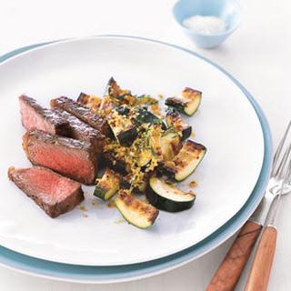 Steak with Golden Zucchini.