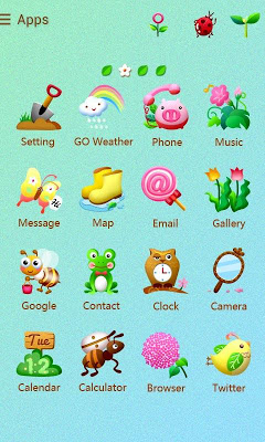 Spring GO Launcher Theme - screenshot