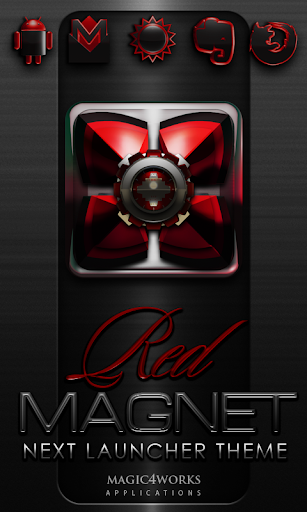 Next Launcher Theme Red Magnet