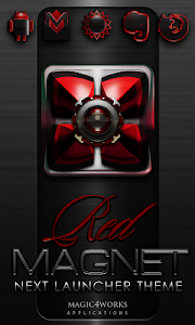 Next Launcher Theme Red Magnet v4.40 [440]