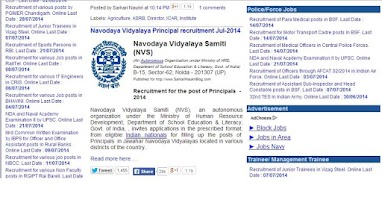 Screenshot of sarkari naukri Govt Job