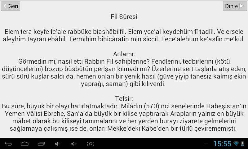 Namaz Sure ve Duaları- screenshot