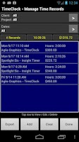 Screenshot of TimeClock - Time Tracker