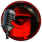 poweramp skin android red icon