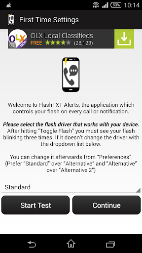 Flash Alerts for Call Sms