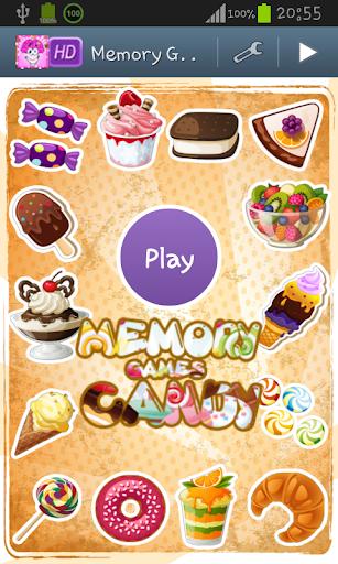 記憶ゲーム - キャンディ