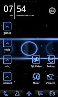 Screenshot of Neon Blue ADW Theme