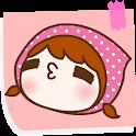베이비샤워 레드하트 카카오톡 테마 icon
