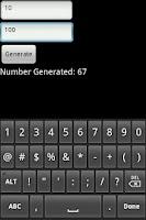 Screenshot of Random Number Generator