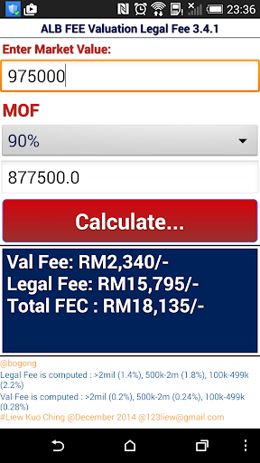 ALB FEC Valuation Legal Fee