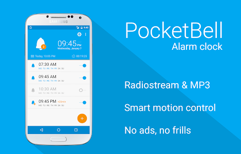 Radio Alarm Clock - PocketBell v1.7