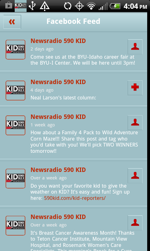 Newsradio 590, 1240, 92.1FM- screenshot