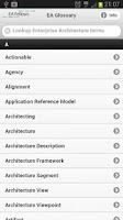 Screenshot of EA Glossary