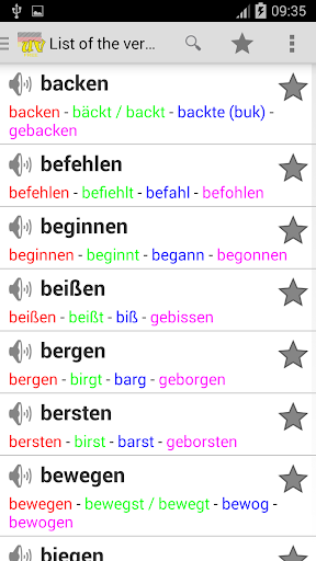 German Irregular Verbs